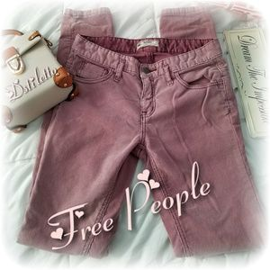 FREE PEOPLE Wine Skinny Pants Jeans